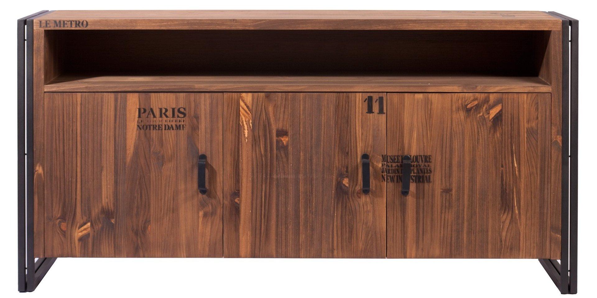 mueble aparador de estilo industrial michigan - Muebles Estilo Industrial