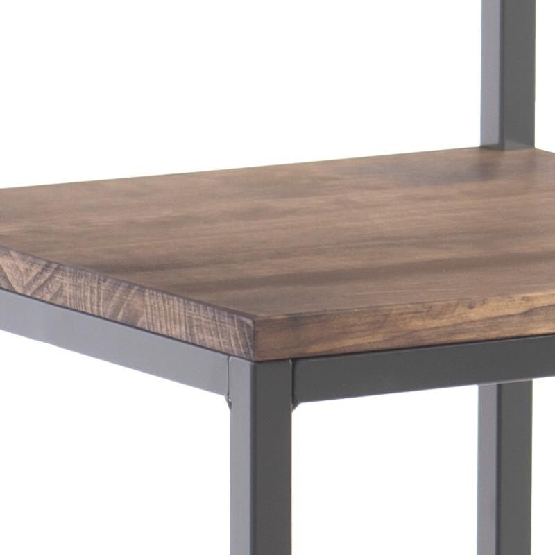 Taburete estilo industrial camden en madera y metal hantol for Taburete estilo industrial